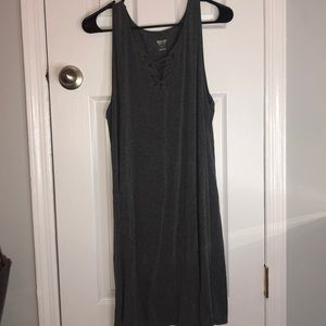 Mossimo Gray lace up summer dress